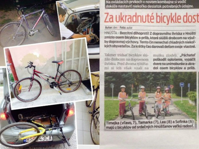 Iniciatíva pri zháňaní bicyklov pre dopravné ihrisko
