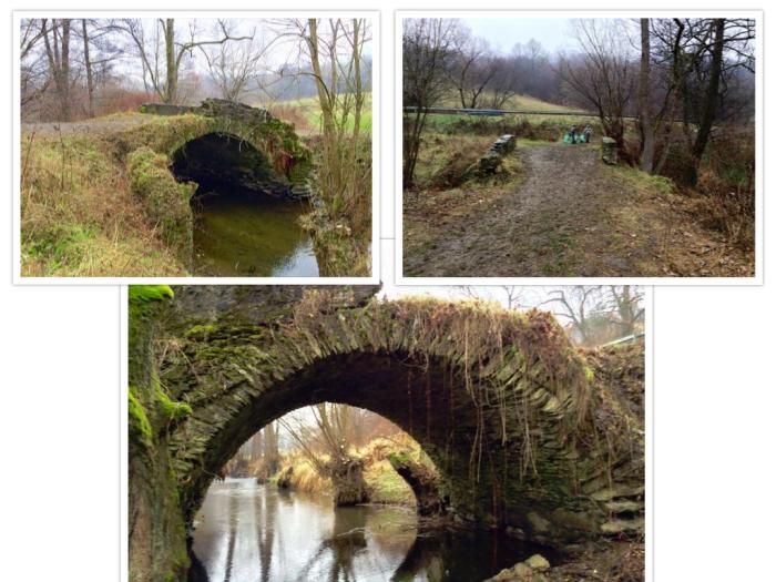 Čistenie okolia historického kamenného mosta